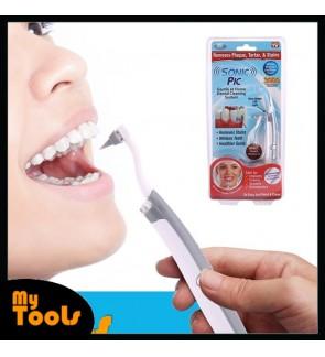 Sonic Pic Gentle Dental Teeth Whitening Pick LED Light Ultrasonic Oral Care Tool