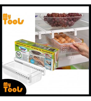 Fridge Mate Refrigerator Pull Out Drawer Kitchen Storage Box Rack Shelf