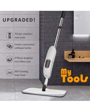 Mytools Premium Spray Mop Wet Floor Mop 600mL Watering Bottle 360° Rotating Mop Super Absorb Mircrofibre Pad