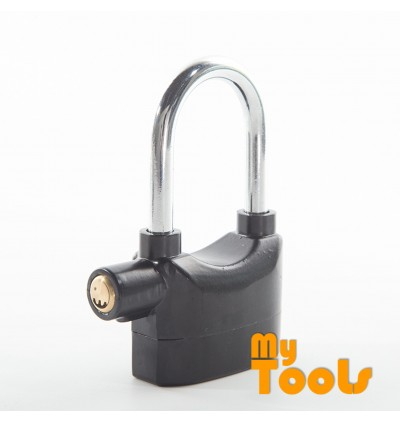 Mytools Genuine Kinbar Siren Alarm Padlock Pad Lock 110db Anti-Theft Security (LONG)