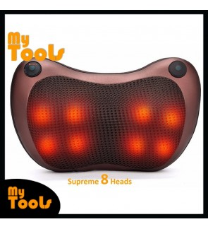 Mytools 8 Roller Car/Home/Office Massage Roller Neck Back Legs Massage Pillow