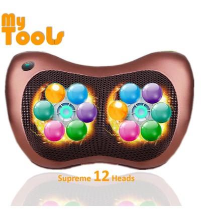 Mytools 12 Balls Roller Car, Home, Office Massage Roller Electronics Neck Back Legs Massage Pillow M