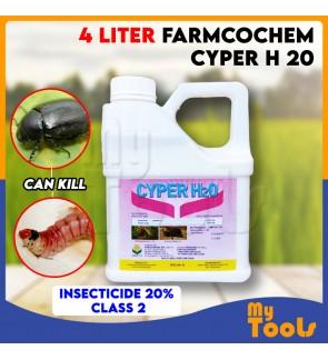 4 Liter Farmcochem Cyper H 20 Insecticide 20% Class 2 Racun Serangga Pest Control