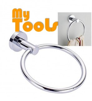 Mytools Luxury Round Hand Towel Ring Holder Wall Mounted Kitchen Bathroom