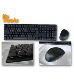 Mytools Classic Silent Wireless 2.4GHz Keyboard and Mouse Set with USB Bluetooth Receiver for PC Lap