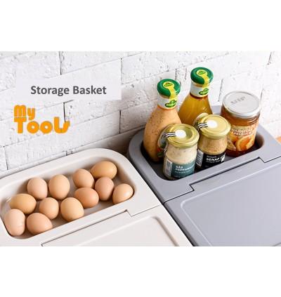 10kg Rice Partition Food Storage Box Kitchen Storage Container With Wheels