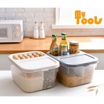 Mytools 10kg Rice Partition Food Storage Box Kitchen Storage Container With Wheels