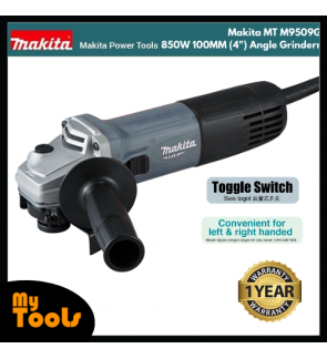 "Makita MT M9509G 850W 100MM (4"") Angle Grinder + 12 Months Makita Original Warranty"