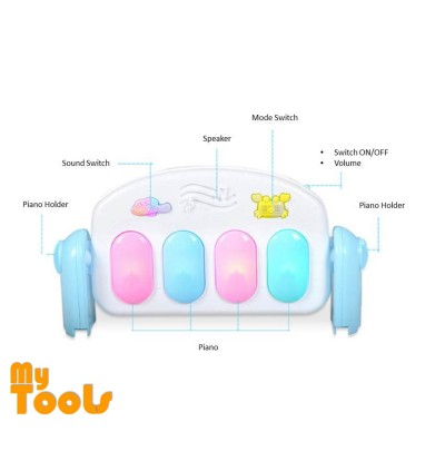 Mytools Baby Play Mat Care Toys Colourful Musical Gym Playing Lay Sit Carpet