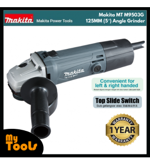 "Makita MT M9503G 570W 125MM (5"") Angle Grinder + 12 Months Makita Original Warranty"