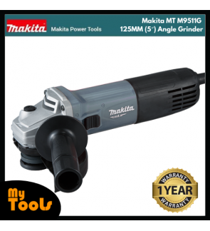 Makita MT M9511G 125MM (5″) Angle Grinder + 12 Months Makita Original Warranty