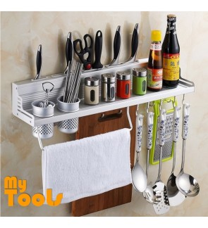 Mytools Premium Aluminium Kitchen Storage and Organizer Rack With 2 Cups