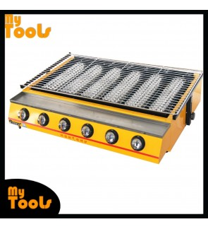 [READY STOCK] Mytools Commercial 6 Head Gas Barbecue BBQ Grill Griddle