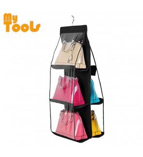 Mytools Dust Proof Handbag Rack Organizer Wardrobe Closet Hanger Storage Holder for Bags