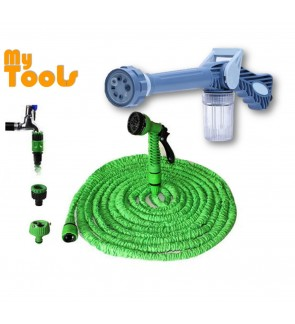 EZ Jet Water Cannon + XHOSE Expandable Hose With Gun 50ft