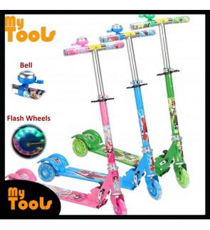 Kids Children Foldable Wheel Balance Kick Scooter Flash Wheel