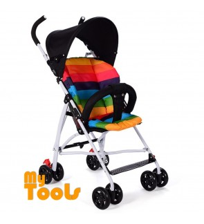 Mytools Colorful Easy Fold Light Weight Baby Stroller With Brake Prams Thick Cushion