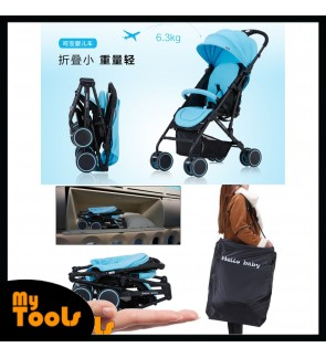 Air Planes Size One Button Baby Stroller [Free Travel Bag]