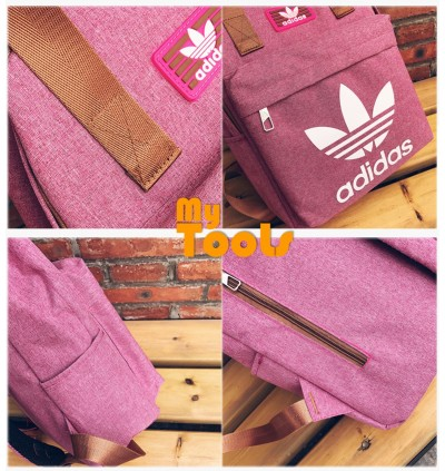 Adidas Stylish Canvas Sport Travel School Backpack Bag
