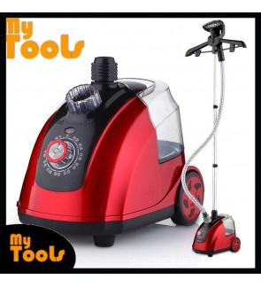 [READY STOCK] Portable Stand-type Garment Steamer / Clothes Iron (Red)