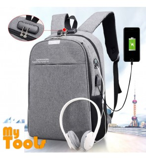 Mytools Anti Theft Travel Laptop Backpack Business USB Charging Port Password Lock
