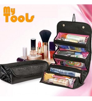 Roll n Go Cosmetic Bag for Make Up & Toiletry Organizer Travel Bag