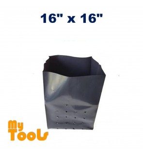 16 x 16 5KG HDPE Premium Quality UV Poly Bag Polybag (Nursery Plantation Bag) (Made In Malaysia)