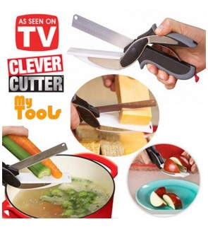 Clever Cutter 2-in-1 Knife & Cutting Board Scissors