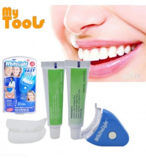 White Light Teeth Whitening System (FULL SET) + FREE EXTRA 2 tubes of Whitening Gel