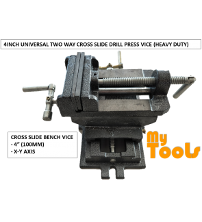 "4"" 100mm Cross Slide Drill Press Vice (Heavy Duty)"