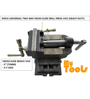 "3"" 75MM CROSS SLIDE DRILL PRESS VICE (HEAVY DUTY)"