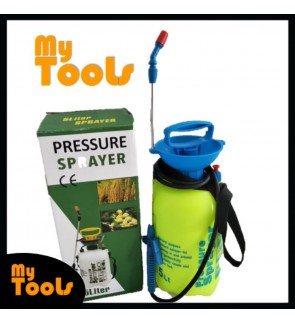 5 Litre Manual Pressure Sprayer Pump Spray Chemical Weed Water Plants Garden