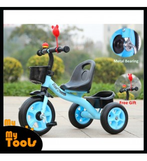Children Kids Tricycle Baby Walker Outdoor Toys with Front & Rear Basket