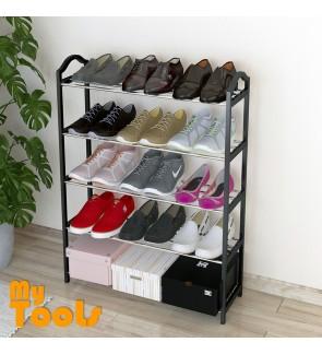 Mytools 4 Layer Shoes Rack Premium Quality 4 Tier DIY Shoe Rack (BLACK)