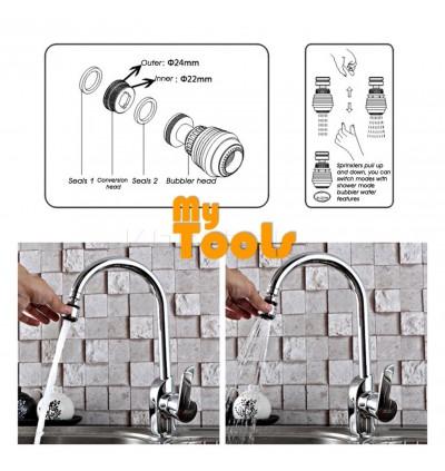 Mytools 360 Degree Swivel Water Saving Tap Aerator Diffuser Faucet Nozzle Filter Adapter