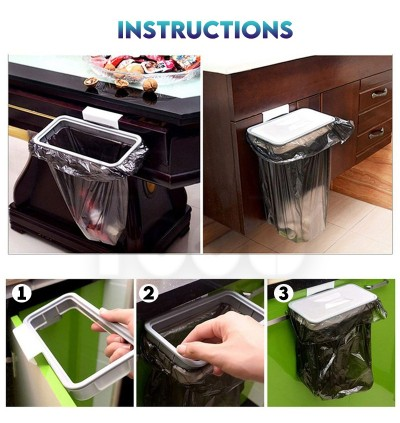 Attach A Trash The Hanging Trash Bag Holder Rubbish Bin