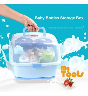 Mytools Portable Baby Bottle Storage Box Drainage Drying Shelf