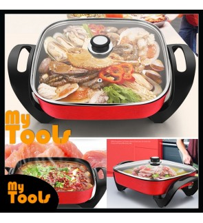 Mytools Korean 9 IN 1 Multi-Function Electric Steamboat Cooker Grill Hot Pot Pan