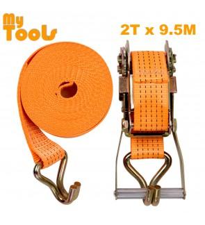 """2"""" X 10M Heavy Duty Ratchet Tie Down Belt With Metal Lock ( 2 Ton Breaking Force )"""