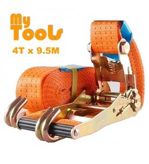 """2"""" X 10M Heavy Duty Ratchet Tie Down Belt With Metal Lock ( 4 Ton Breaking Force )"""