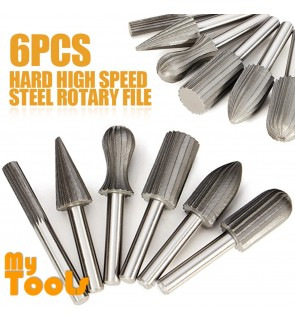 Mytools High Metal Hard Rotary Burrs Die Grinder Carving Bits Cutter Shank 6pcs
