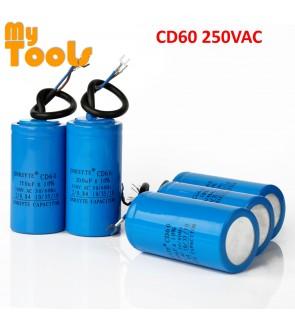 CD60 Motor Fan Starting Capacitor Condenser 250VAC 50/60Hz 50uf 75uf 100uf 150uf 200uf 250uf 300uf 400uf 500uf 600uf