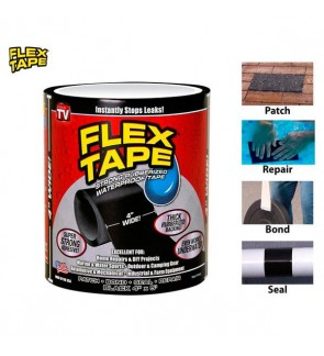 "Flex Tape 4""x5' Patch Bond Super Strong Rubberized Waterproof Seal Repair"