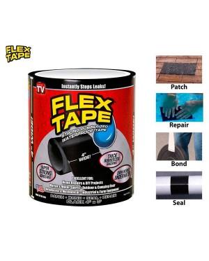 "Flex Tape 4""x5' Patch Bond Super Strong Rubberized Waterproof Seal Repair"