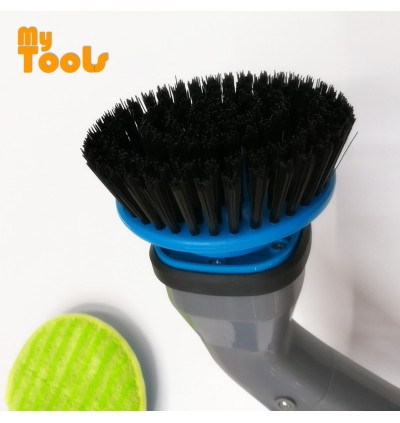 Mytools Spin Polisher Scrubber Cleaning Brush Rechargeable Cleaner W 4 Brushes