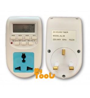 Mytools 13A Smart Digital Timer Socket Switch Energy Saving Programmable Electronic (Malaysia Plug)