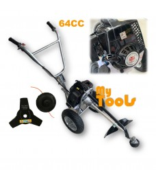 Mytools STP-640 64cc Heavy Duty Aired Wheeled Hand Push Gasoline Brush Cutter Lawn Mower Mover (Korea)