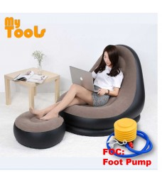 Mytools Inflatable Air Sofa Seat Chair W Foot Rest Lounge Air Bed Mattress (FOC: Foot Pump)