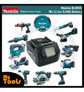 BL1850 Makita 18v Li-ion 5.0Ah Battery for Cordless Power Tool + 12 Months Original Makita Warranty