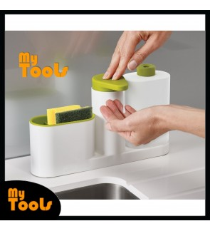 Mytools 3 In 1 Sink Tidy Set Plus Kitchen Organizer Built in Soap Dispenser